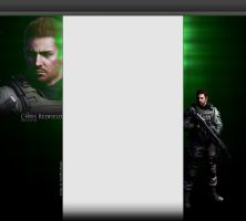 RE6 Chris Redfield YouTube 3.0 Layout by FadedBlackangel