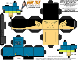 Cubee STAR TREK CONTINUES CMDR Spock by njr75003