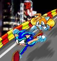 Sonic and Tails by jmynstyx
