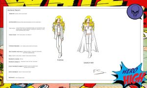 Hero High: Emma Frost's daughter by Lady--knight