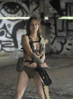 Polina with minigun #2 by ohlopkov
