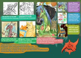 2015 Digital Commission Price Sheet by MalevolentMan