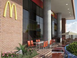 McDonald's Exterior by meling-3d