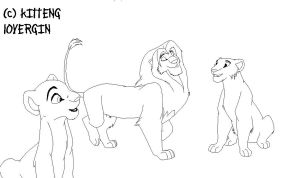 Lion king Base happy family by KittengLovergin