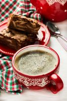 Cup of coffee and chocolate pie by BeKaphoto
