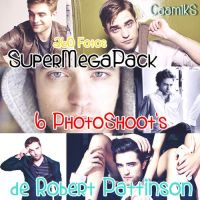 SuperMegaPack Robert Pattinson 6 Photoshoot's by CaamiKS