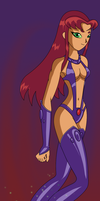 Starfire's New Outfit Redux by XeroChance
