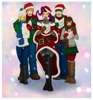 Sf Carolers by KiraTheArtist