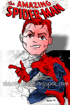 Your friendly neighbourhood Spiderman by victorgrafico