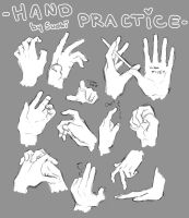 ::Hand practice 3:: by Suobi-chan