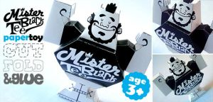 Mister Black Tee Paper toy by marisolivier