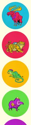 Five Color Animals by einen