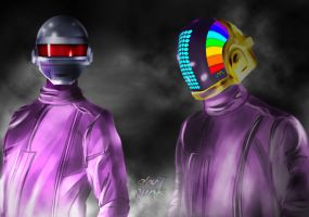 Daft Punk Duo by Seraphoid
