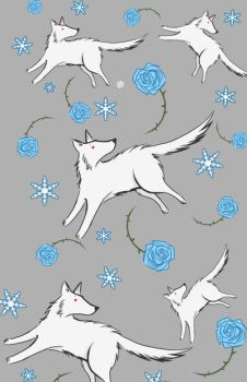 Wolves and Winter Roses by Ratgirlstudios