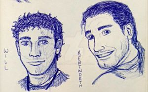 Will and Kentworth realistic sketches by silverwatermist