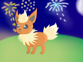 Flareon likes Fireworks by Aimare