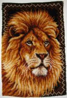 Lion Rug by AreteEirene