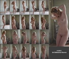 Krystal Ann 20 Backlit Nudes Stock Comm Use OK by ArtReferenceSource