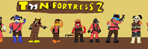 TOON FORTRESS 2 - Wallpaper V3 by Mariolover54321