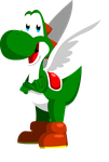 Yoshi with wings by AceofAbra