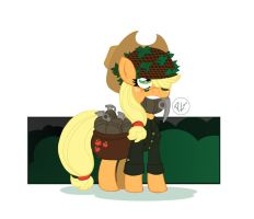 Military is Magic Applejack by GreenWiggly