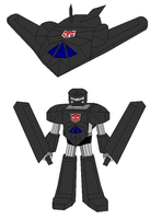 A Stealth Fighter as a Transformer by Gamekirby