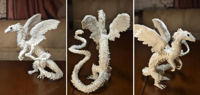 White dragon handmade by IlonaDi