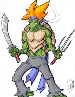 SPIKEY HAIRED TMNT by Sweet-Babboo