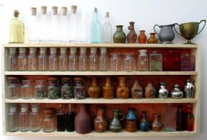 A collection of bottles and vases by zimzim1066