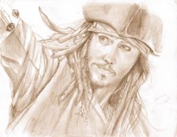Pirate of the Caribbean - Depp by MizieDreams