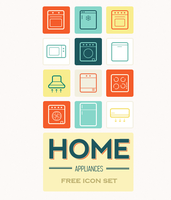 Home appliances icon set by king-pavian