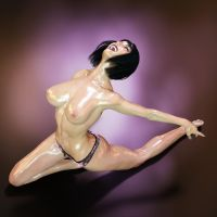 Natasha HQ - Oiled and wet Skin. See Description by muscledolls