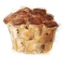 Warm panettone bread pudding by torstan