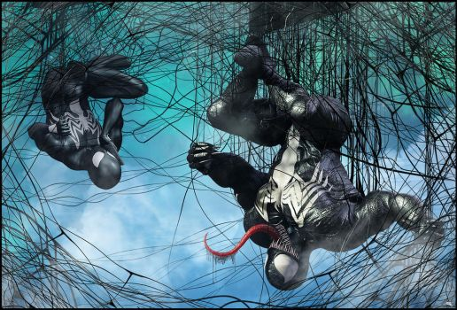 Spidey and Venom. Teamp- Up by MarcMons007