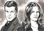 Castle and Beckett Sketch Cards by timshinn73