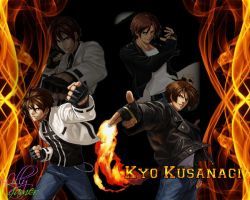 Kyo Kusanagi Wallpaper by LillyGamer