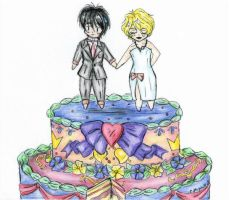 Mazoku Wedding Cake by RuneWolfe