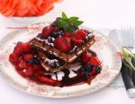 Homemade Chocolate Belgium Waffles by theresahelmer