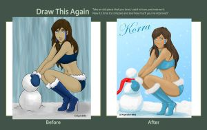 Korra Pin-up - Draw This Again Challenge by shango266