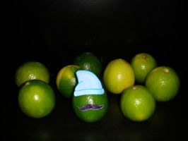 limes party moustachette style by batbeater