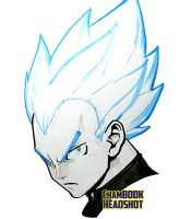 ChamBOOK Headshot - SSGSS Vegeta by theCHAMBA