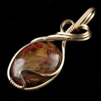 Pietersite Pendant in Gold by innerdiameter