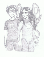 Sollux and Aradia by Susan-Kim