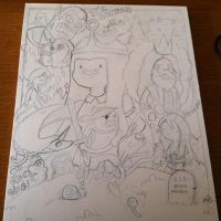 Adventure Time pencils by johnnyism
