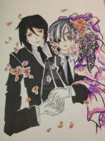 sebastian michaelis and ciel phantomhive by ayacan