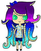 Octopus Girl by monkeyrockla