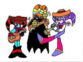 Nightmaren mariachi  colored by Boltession