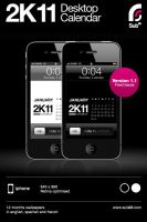 iPhone 2K11 Desktop Calendar by sub88