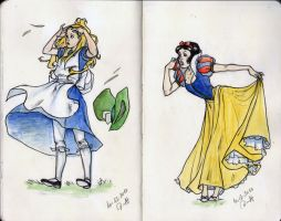 Alice and Snow White by 8Dimat8