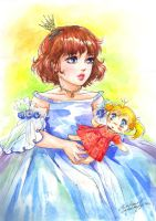 Girl with a Doll by Maria-Sandary
